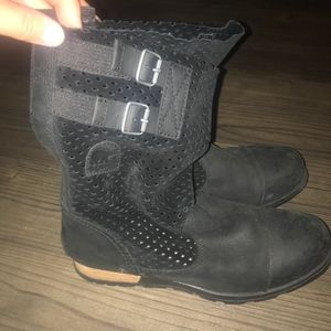 Black leather and sude Sorel Boots